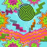 Retro 80s comic pattern background Stock Images