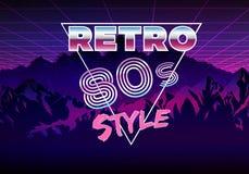 Retro 80s eighties neon background. Concept of Retro 80s eighties neon background stock illustration