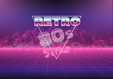 Retro 80s eighties neon background Royalty Free Stock Images
