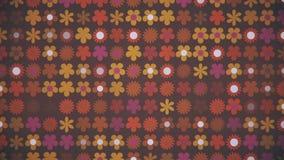Retro 1970s Flower Pattern Background