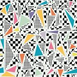Retro 80s memphis pattern background Royalty Free Stock Photos