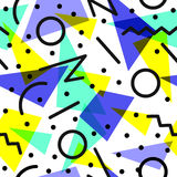 Retro 80s pattern background illustration Royalty Free Stock Image