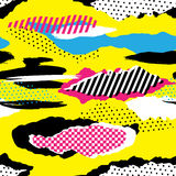 Retro 1980s Pattern. Vibrant and colourful pattern inspired by the graphic design of the 1980s Stock Photography