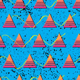 Retro 1980s Pattern. Vibrant and colourful patterns inspired by the graphic design of the 1980s Stock Photos