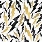 Retro 80s 90s thunder bolt ray pattern gold fancy Royalty Free Stock Photo