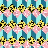 Retro 80s seamless pattern background Stock Images