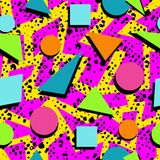 Retro 80s seamless pattern background Stock Photography