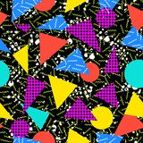 Retro 80s seamless pattern background Stock Photo