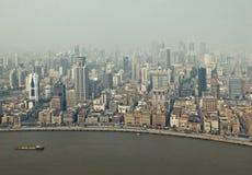retro s shanghai stil för bundlandmark Royaltyfri Bild