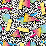 Retro 1980s Style Pattern Stock Images