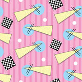 Retro 1980s Style Pattern. Vibrant and colourful pattern inspired by the graphic design of the 1980s Royalty Free Stock Photo