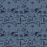Retro of 1920s style seamless pattern.  Royalty Free Stock Photo