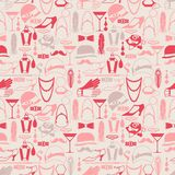 Retro of 1920s style seamless pattern.  Royalty Free Stock Photos
