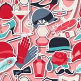 Retro of 1920s style seamless pattern.  Stock Photos