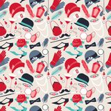Retro of 1920s style seamless pattern Royalty Free Stock Images