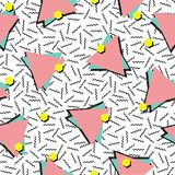Retro 80s style seamless pattern background Stock Photography