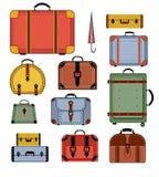 Retro sacchetti di corsa Fotografie Stock