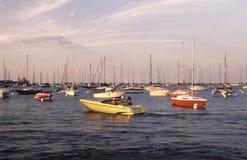 Retro Sailboats in Marina Royalty Free Stock Images