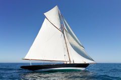 Retro sailing. On a yacht Royalty Free Stock Photo