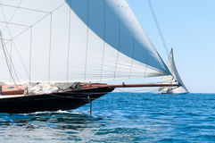 Retro sailing. On a yacht Stock Images