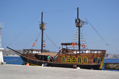 Retro sailing vessel Stock Image