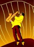 Retro saksofon Zdjęcia Royalty Free