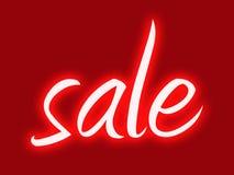 Retro sale. Red retro style shop window sale sign Royalty Free Stock Photo