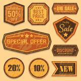 Retro Sale Badges Royalty Free Stock Image