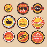 Retro Sale Badges Royalty Free Stock Photos