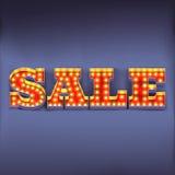Retro sale banner Stock Photos
