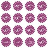 Retro sale icons, tag stickers or labels Stock Image