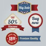 Retro Sale Labels set Royalty Free Stock Images