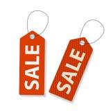 Retro Sale Labels Set . Vector Illustration Stock Image
