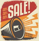 Retro sale poster design concept Stock Photo