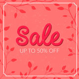 Retro sale poster with grunge texture. Up to 50 Royalty Free Stock Image