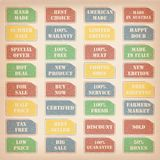 Retro sale stamps Royalty Free Stock Photo