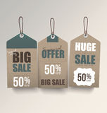 Retro Sale Tags Royalty Free Stock Images