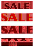 Retro sales half banners set. Royalty Free Stock Image