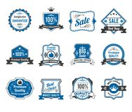 Retro sales labels icons collection Stock Photo