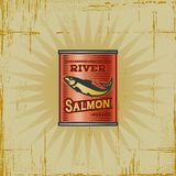 Retro Salmon Can Royalty Free Stock Image