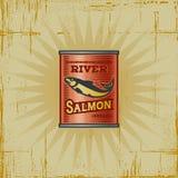 Retro Salmon Can Royalty Free Stock Image