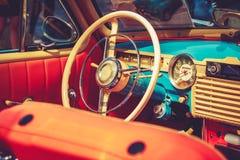 Retro salon van de vuntageauto Stock Foto