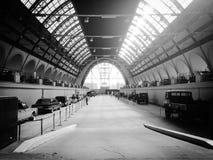 Retro salone dell'automobile fotografia stock libera da diritti