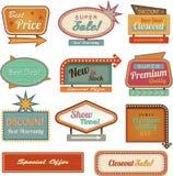 Retro samling för baner sign/ad Royaltyfri Bild