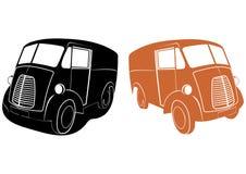 Retro samochód dostawczy royalty ilustracja