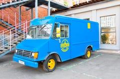 Retro samochód jeden i powierzchowność Flacon projekta fabryki pawilon Obrazy Stock
