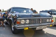 Retro samochód na seagull avtoarena w Cheboksary Obrazy Stock