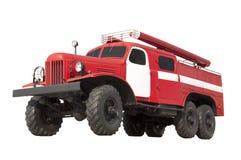 Retro samochód strażacki odizolowywający na białym tle Zdjęcia Royalty Free