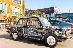 Retro samochód ZAZ lub Zaporozhets na Flacon projekta fabryce na Maju 01, 2017 Fotografia Stock