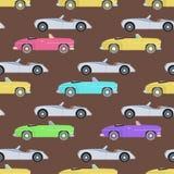 Retro samochodowa bezszwowa deseniowa wektorowa ilustracja Obrazy Stock